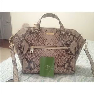Kate Spade Natural Snakeskin Savannah Satchel